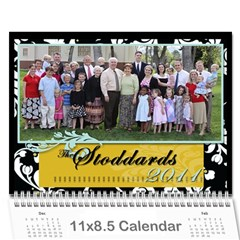 Stoddard Family Calendar By Natalie   Wall Calendar 11  X 8 5  (12 Months)   9vqyhfhhxhov   Www Artscow Com Cover