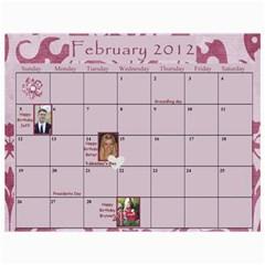 Stoddard Family Calendar By Natalie   Wall Calendar 11  X 8 5  (12 Months)   9vqyhfhhxhov   Www Artscow Com Feb 2012