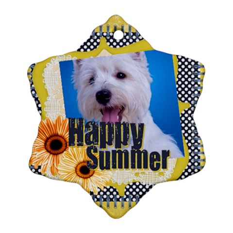 Summer By Joely   Ornament (snowflake)   Vhq90djvfeen   Www Artscow Com Front