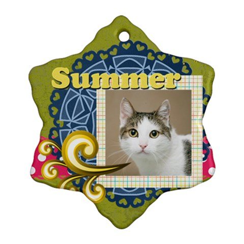 Summer By Joely   Ornament (snowflake)   1a1dwhetnzmz   Www Artscow Com Front