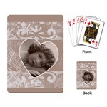 Romanza Taupe Playing Cards - Playing Cards Single Design