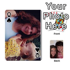 Queen Laura And Bill   Finished By Edie Zilio   Playing Cards 54 Designs   Smervpv44b9m   Www Artscow Com Front - SpadeQ