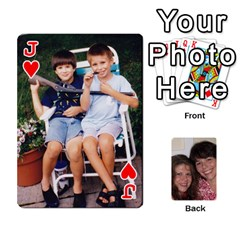 Jack Laura And Bill   Finished By Edie Zilio   Playing Cards 54 Designs   Smervpv44b9m   Www Artscow Com Front - HeartJ