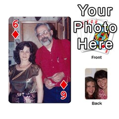 Laura And Bill   Finished By Edie Zilio   Playing Cards 54 Designs   Smervpv44b9m   Www Artscow Com Front - Diamond6