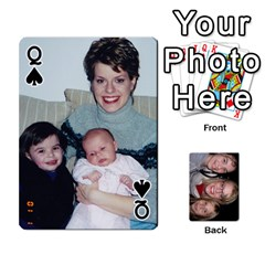 Queen Aunt Jen Final By Edie Zilio   Playing Cards 54 Designs   Lsf380r7ufbb   Www Artscow Com Front - SpadeQ