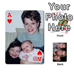 Ace Aunt Jen Final By Edie Zilio   Playing Cards 54 Designs   Lsf380r7ufbb   Www Artscow Com Front - HeartA