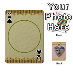 Queen Elegant 54 Card Design By Deborah   Playing Cards 54 Designs   7wzowto6mw5f   Www Artscow Com Front - SpadeQ