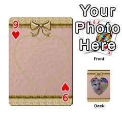 Elegant 54 Card Design By Deborah   Playing Cards 54 Designs   7wzowto6mw5f   Www Artscow Com Front - Heart9