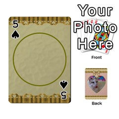 Elegant 54 Card Design By Deborah   Playing Cards 54 Designs   7wzowto6mw5f   Www Artscow Com Front - Spade5