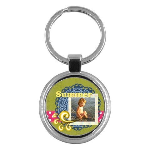 Summer By Joely   Key Chain (round)   Par63b7rhw71   Www Artscow Com Front