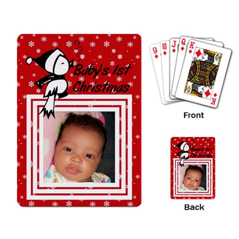 Baby By Christina Campbell   Playing Cards Single Design   Ws1nyobi9glg   Www Artscow Com Back