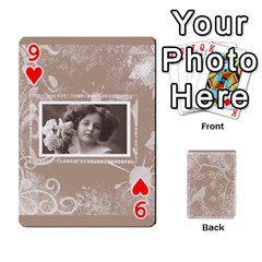 Mocha Batik 54 Design Cards By Catvinnat   Playing Cards 54 Designs   D7u7xyo8jrmu   Www Artscow Com Front - Heart9