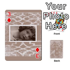 Mocha Batik 54 Design Cards By Catvinnat   Playing Cards 54 Designs   D7u7xyo8jrmu   Www Artscow Com Front - Diamond3