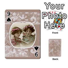Mocha Batik 54 Design Cards By Catvinnat   Playing Cards 54 Designs   D7u7xyo8jrmu   Www Artscow Com Front - Spade9