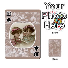 Mocha Batik 54 Design Cards By Catvinnat   Playing Cards 54 Designs   D7u7xyo8jrmu   Www Artscow Com Front - Spade10