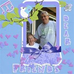 Friends J - ScrapBook Page 8  x 8