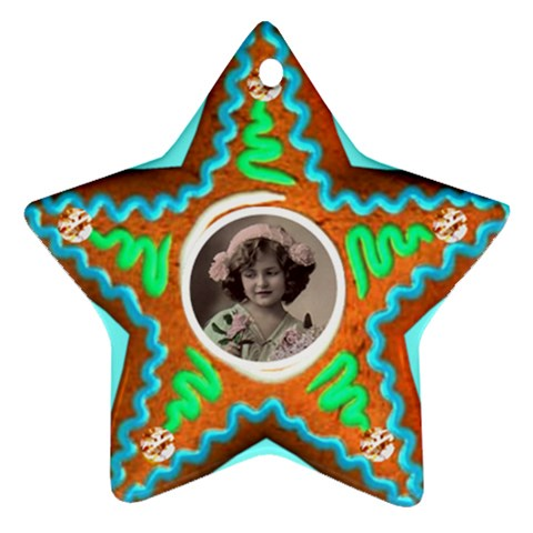 Gingerbread Cookie Star Ornament Single Sided By Catvinnat   Ornament (star)   Wiome6qbtdig   Www Artscow Com Front