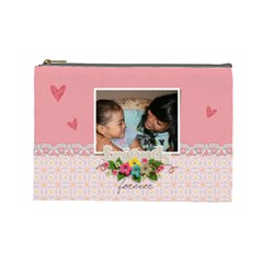 Cosmetic Bag (large)   Friends Forever By Jennyl   Cosmetic Bag (large)   1vhvfaxkf934   Www Artscow Com Front