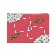 Cosmetic Bag (large)   Flower Blooms By Jennyl   Cosmetic Bag (large)   Jv2i14z35xbu   Www Artscow Com Back