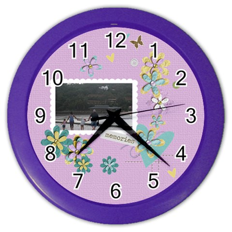 Color Wall Clock  Memories By Jennyl   Color Wall Clock   We1mqda5mw90   Www Artscow Com Front