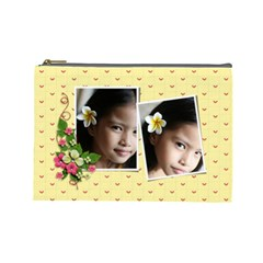 Cosmetic Bag (large)   Yellow Dreams By Jennyl   Cosmetic Bag (large)   Zwttc7er4c7t   Www Artscow Com Front