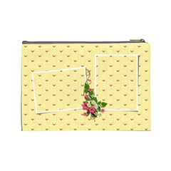 Cosmetic Bag (large)   Yellow Dreams By Jennyl   Cosmetic Bag (large)   Zwttc7er4c7t   Www Artscow Com Back