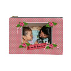 Cosmetic Bag (large)   Friends Forever By Jennyl   Cosmetic Bag (large)   Mhpvkr4um2oi   Www Artscow Com Front