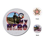 My Hero US Service Round Playing Cards - Playing Cards (Round)