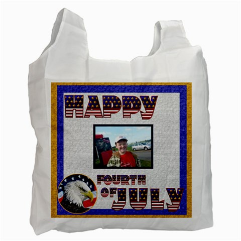 Happy Fourth Of July Recycle Bag Single Side By Catvinnat   Recycle Bag (one Side)   Ao2ybf5yfkk7   Www Artscow Com Front