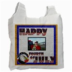 Happy Fourth of July recycle bag single side - Recycle Bag (One Side)