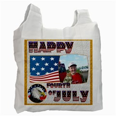 Happy Fourth Of July Recycle Bag Double Sided By Catvinnat   Recycle Bag (two Side)   Cj2tsaozieuw   Www Artscow Com Front