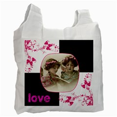 Pinkadink Recycle Bag Double Sided By Catvinnat   Recycle Bag (two Side)   Zzhg2275722b   Www Artscow Com Front