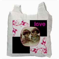 Pinkadink Recycle Bag Double Sided By Catvinnat   Recycle Bag (two Side)   Zzhg2275722b   Www Artscow Com Back