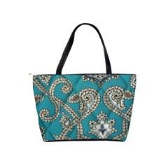 Peacock Classic Shoulder Bag By Eleanor Norsworthy   Classic Shoulder Handbag   Zy6vqohnxip9   Www Artscow Com Back