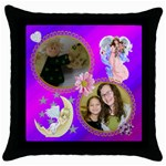angel pillow - Throw Pillow Case (Black)