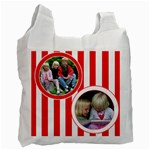 Red and White recycle bag - Recycle Bag (One Side)