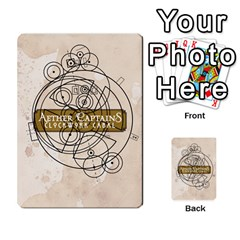 Aether Captains: Clockwork Cabal [economy] By Todd Sanders   Playing Cards 54 Designs   8qicua17fxxm   Www Artscow Com Back