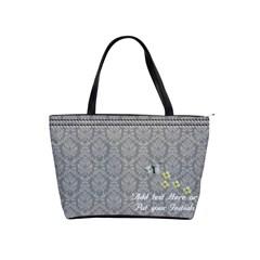 Shoulder Handbag   Beads And Butterfly By Jennyl   Classic Shoulder Handbag   Xos48mzzmctw   Www Artscow Com Front