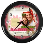 xmas clock - Wall Clock (Black)