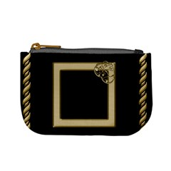 Black And Gold Mini Coin Purse By Deborah   Mini Coin Purse   Admjs56oc6w2   Www Artscow Com Front