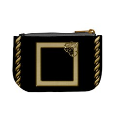 Black And Gold Mini Coin Purse By Deborah   Mini Coin Purse   Admjs56oc6w2   Www Artscow Com Back