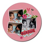 Mousepad- friends forever - Round Mousepad