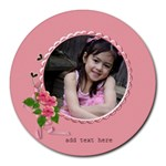 Round Mousepad- Girly Pink
