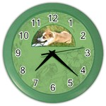 Rusty Puppy Half Moon Clock - Color Wall Clock