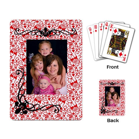 Girls Playing Cards By Casey   Playing Cards Single Design   8suw2ifq1pzr   Www Artscow Com Back