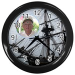 nautical clock - Wall Clock (Black)