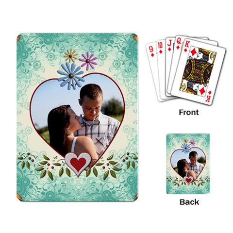 Pretty Love Playing Cards By Lil    Playing Cards Single Design   Xq6j26aomz60   Www Artscow Com Back