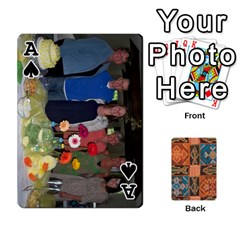 Ace Family Cards By Mary Nickels   Playing Cards 54 Designs   Lrlwgyy6dudr   Www Artscow Com Front - SpadeA