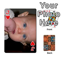 Jack Family Cards By Mary Nickels   Playing Cards 54 Designs   Lrlwgyy6dudr   Www Artscow Com Front - HeartJ