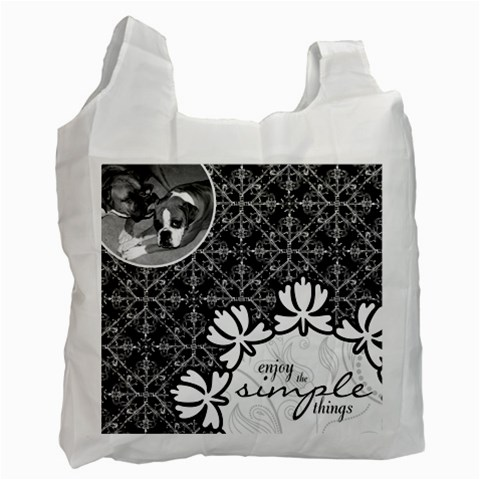 Enjoy The Simple Things Recycle Bag By Klh   Recycle Bag (one Side)   Gwkkx1yb3w7m   Www Artscow Com Front